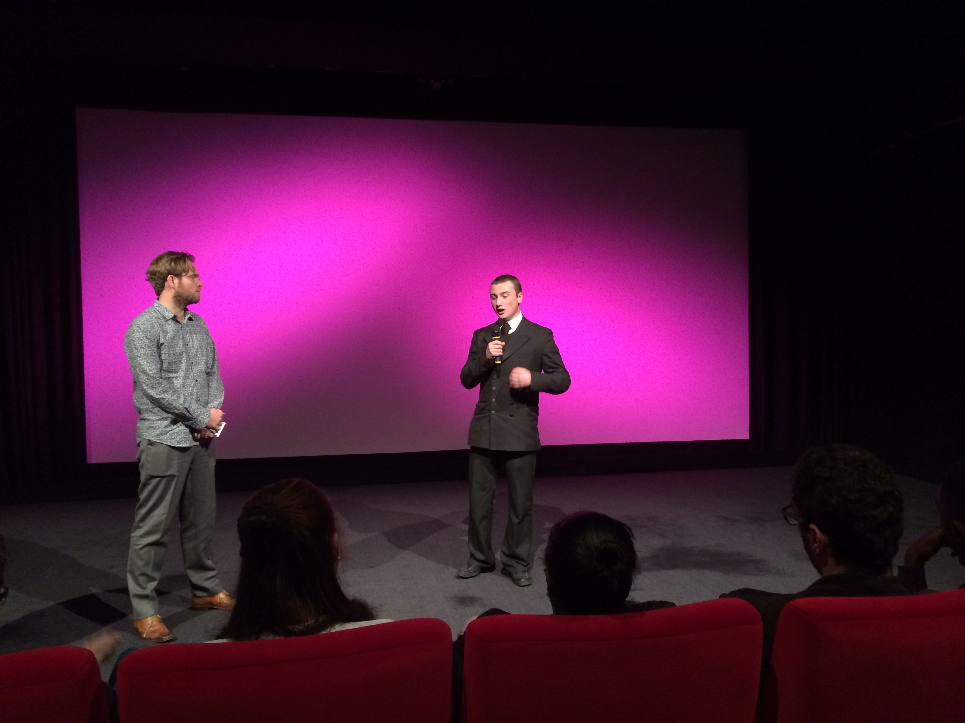 Mark represented the Year 11 students at the film's premiere at the BFI Southbank where he single-handedly handled the 30 minute Q&A